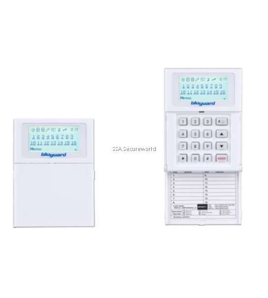 BluGuard V16N Alarm System  9 Zone (extended to 16 Zone)